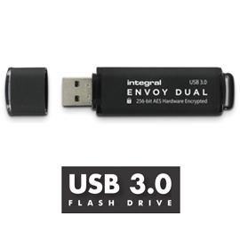 128GB Integral Envoy Dual USB3.0 Flash