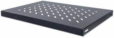 """19"""" Fixed Shelf, 1U, 345 mm Depth, Black"""