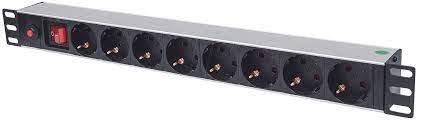 """19"""" 1U Rackmount 8-Output Power Distribu"""