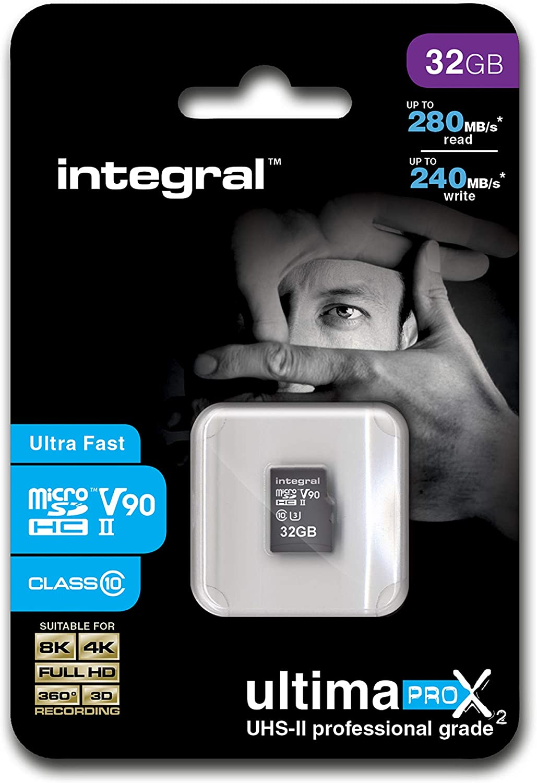32GB Integral V90 UltimaPro X2 microSD