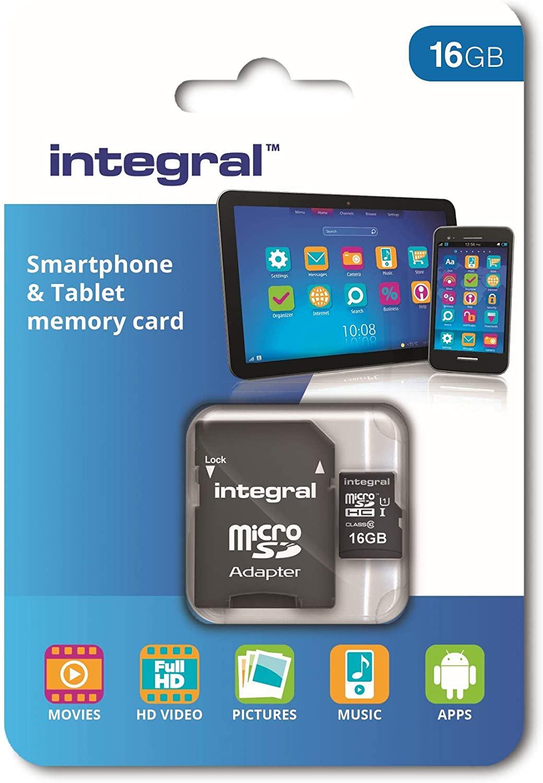 16GB Integral Tablet & Smartphone micr