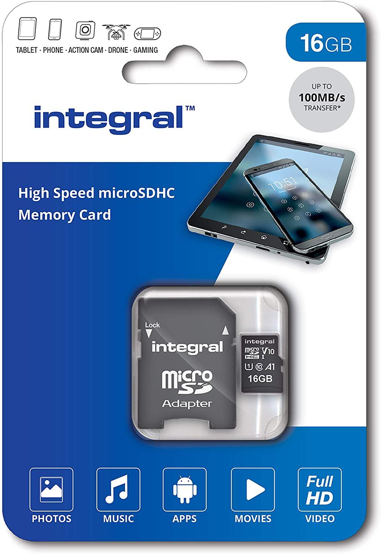 16GB Integral V10 High Speed microSDHC