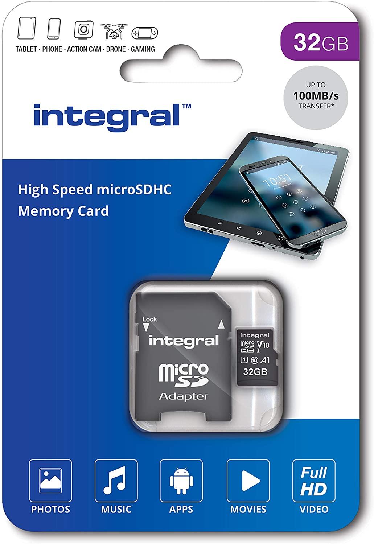 32GB Integral V10 High Speed microSDHC