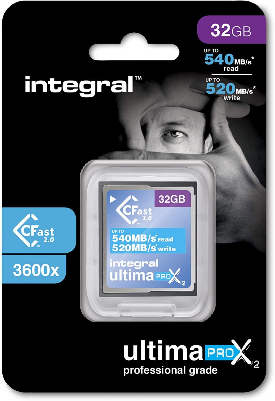32GB Integral Ultima Pro X2 Cfast 2.0