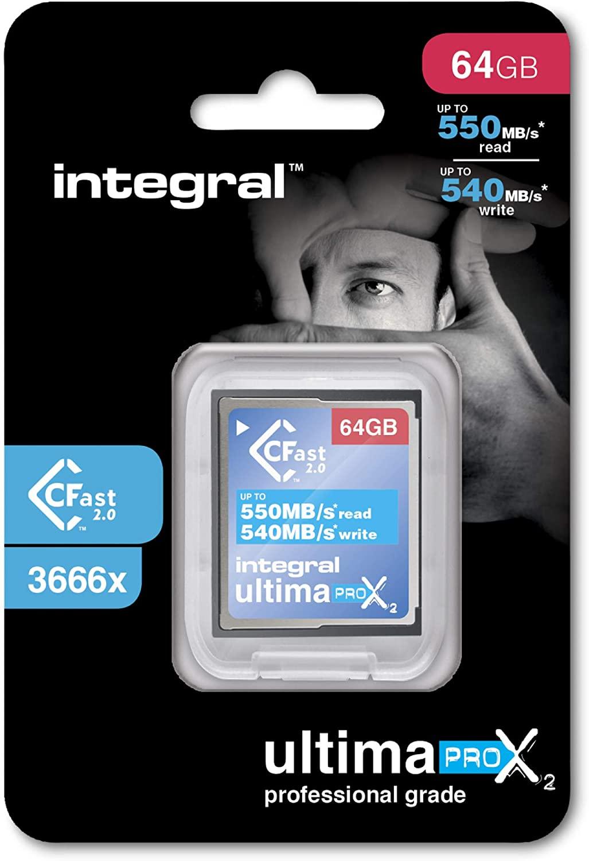 64GB Integral Ultima Pro X2 Cfast 2.0