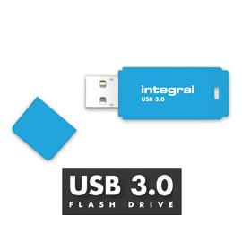 128GB Integral Neon Blue USB3.0 Flash